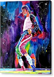 Michael Jackson Dance Acrylic Print by David Lloyd Glover