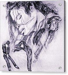 Michael Jackson Dance Acrylic Print by Regina Brandt