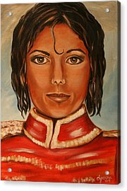 Michael Jackson Acrylic Print by Dyanne Parker