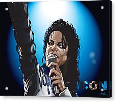 Michael Jackson Icon Acrylic Print by Mike  Haslam