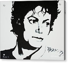Michael Jackson Acrylic Print by Katharina Filus
