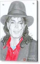 Michael Jackson #nine Acrylic Print