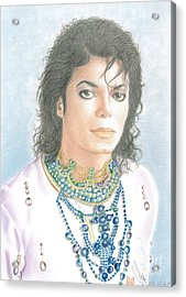 Michael Jackson - Our Beautiful Prince Acrylic Print by Eliza Lo