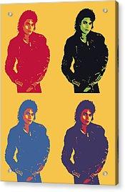 Michael Jackson Pop Art Panels Acrylic Print