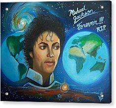 Michael Jackson Portrait. Acrylic Print by Jose Velasquez