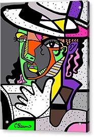 Michael Jackson Poster Acrylic Print by C Baum