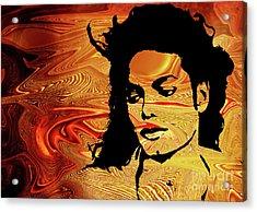 Michael Jackson Acrylic Print by Prar Kulasekara