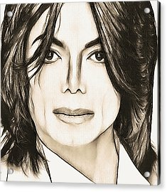 Michael Jackson Sketch Acrylic Print