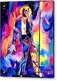 Michael Jackson Sparkle Acrylic Print by David Lloyd Glover