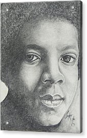 Michael Jackson Acrylic Print by Stephen Sookoo
