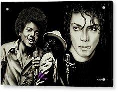Michael Jackson - The Man In The Mirror Acrylic Print