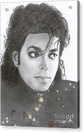 Acrylic Print featuring the drawing Michael Jackson #thirteen by Eliza Lo