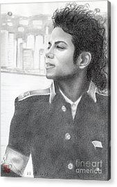 Michael Jackson #twenty-two Acrylic Print by Eliza Lo
