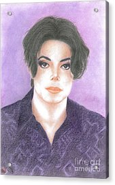 Michael Jackson - You Are Not Alone Acrylic Print