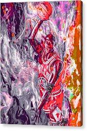 Michael Jordan Chicago Bulls Digital Painting Acrylic Print