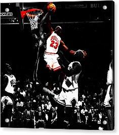 Michael Jordan Gimme Dat Acrylic Print by Brian Reaves