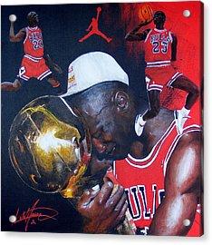 Michael Jordan Acrylic Print by Luke Morrison