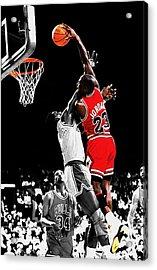 Michael Jordan Power Slam Acrylic Print