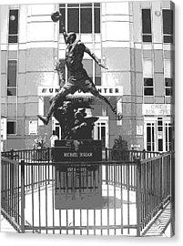 Michael Jordan Statue Acrylic Print by Amber Roth