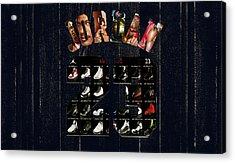 Michael Jordan Wood Art 2j Acrylic Print by Brian Reaves