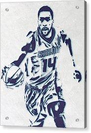 Michael Kidd-gilchrist Charlotte Hornets Pixel Art Acrylic Print