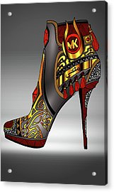 Michael Kors Shoe Illustration No. 2 Acrylic Print by Kenal Louis