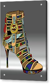 Michael Kors Shoe Illustration No. 3 Acrylic Print by Kenal Louis