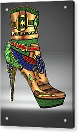 Michael Kors Shoe Illustration No.1 Acrylic Print by Kenal Louis