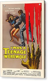 Michael Landon In I Was A Teenage Werewolf 1957 Acrylic Print by Mountain Dreams