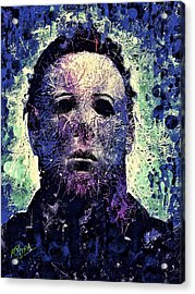 Acrylic Print featuring the mixed media Michael Myers by Al Matra