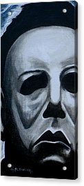 Acrylic Print featuring the painting Michael Myers Up Close And Personal by Al  Molina