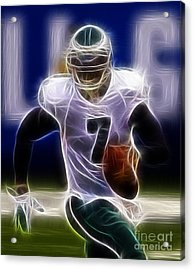Michael Vick - Philadelphia Eagles Quarterback Acrylic Print by Paul Ward