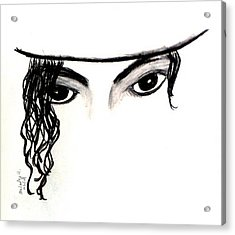 Michael's Eyes Acrylic Print by Melody Anderson