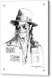 Michael's Jacket Acrylic Print by David Lloyd Glover