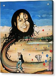 Michael's World Acrylic Print by Jordana Sands