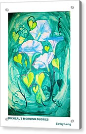 Micheal's Morning Glories Acrylic Print