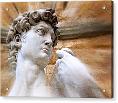 Michelangelo's David 2  Acrylic Print by Jen White