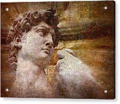 Michelangelo's David Acrylic Print by Jen White