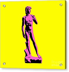 Michelangelos David - Punk Style Acrylic Print by Pixel Chimp