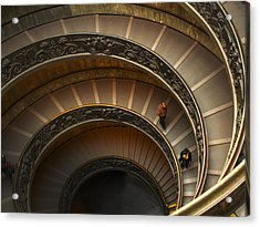 Michelangelo's Spiral Stairs Acrylic Print