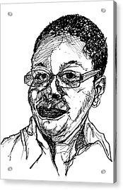 Michelle Caricature Acrylic Print