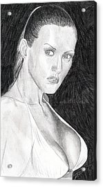 Acrylic Print featuring the drawing Michelle by Michael McKenzie