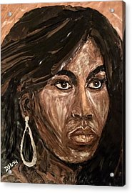 Michelle Obama A Class Act Acrylic Print by Deborah Stanley