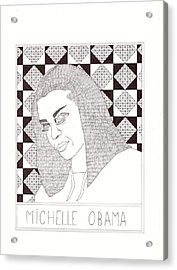 Michelle Obama Acrylic Print by Benjamin Godard