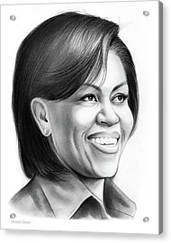Michelle Obama Acrylic Print by Greg Joens