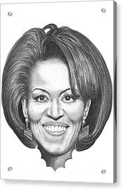 Michelle Obama Acrylic Print by Murphy Elliott