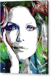 Michelle Pfeiffer Acrylic Print by Mihaela Pater
