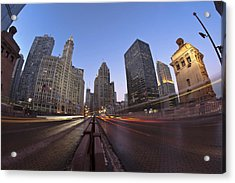 Michgan Avenue Action Acrylic Print