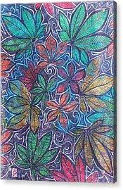 Michigan Autumn Leaves Acrylic Print