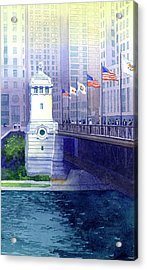 Michigan Avenue Bridge Acrylic Print
